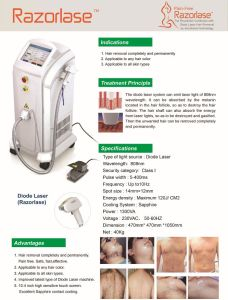 Professional Stationary FDA Approved 808nm Diode Laser Hair Removal Machine pictures & photos