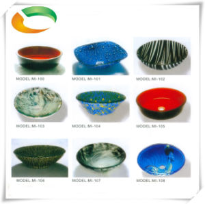 Nummular Glass Basin for Bathroom Countertop pictures & photos