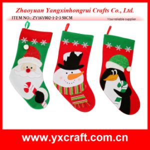 Christmas Decoration (ZY16Y002-1-2-3 50CM) Christmas Penguin Stocking pictures & photos