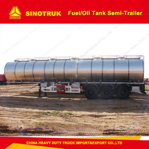 Tri-Axle 42000 Liters Fuel Oil Tank Semi Trailer pictures & photos