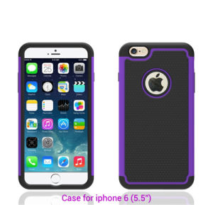 Silicone TPU Hybrid Football Veins Hard Case for iPhone 6 pictures & photos