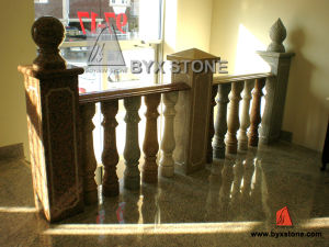 White Marble Granite Stone Stair Balustrade / Balusters with Railing Handrail pictures & photos