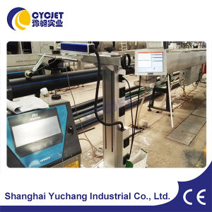 Cycjet Online Fiber Laser Marking Machine for HDPE&PVC Pipe pictures & photos