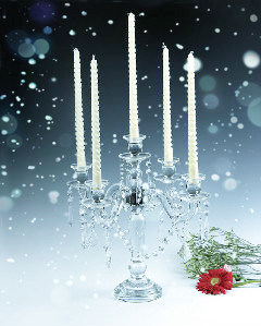 New Arrival Factory Directly Selling Christmas Glass Candle Stand