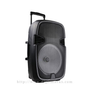 "10"" PC Home Theater Party DJ  Outdoor Karaoke Trolley Bluetooth Active Speaker pictures & photos"