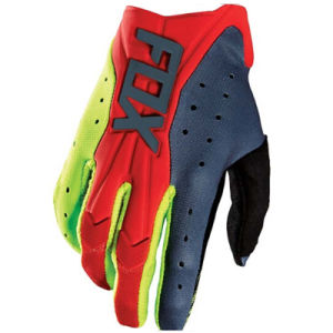 Red&Yellow High Quality Motorcycle Gloves for off-Road Racing (MAG73) pictures & photos