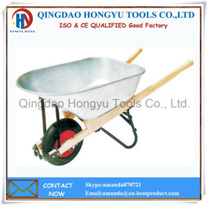 (WH7803) Galvanized Metal Tray Wooden Handle Garden Tool Barrow/Wheelbarrow pictures & photos