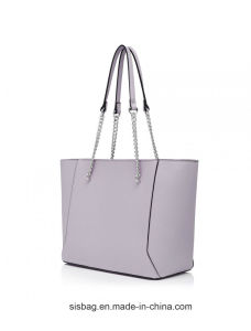 New Fashion Chain Tote Bag PU Women Lady Handbag pictures & photos
