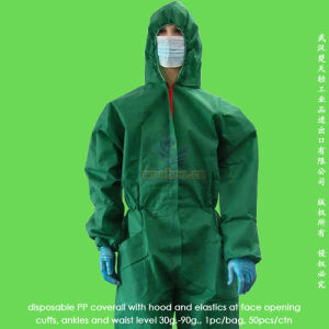 Disposable PP Protective Gown pictures & photos