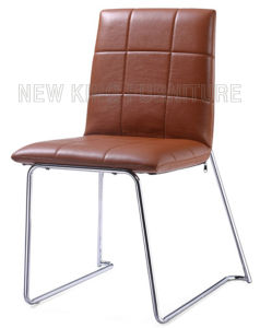 Fashion Cheap Design Chrome Steel Foot PU Leather Dining Chair (NK-DC071)