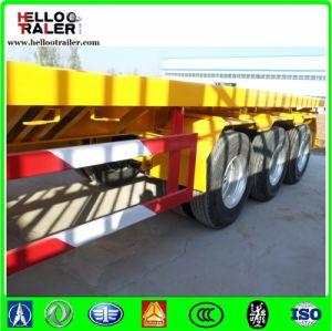 China 3 Axle Container Semi Trailer 40 Ton Flatbed Semi Trailer pictures & photos