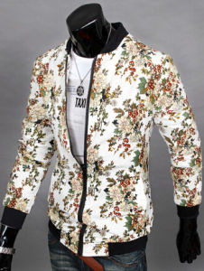Colorful Flower Printed Men Thinlight Jacket Coat with Factory Price pictures & photos