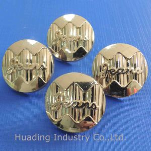 Hanging Gold Color Metal Shank Button for Jeans (SK00531) pictures & photos