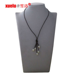 Fashion Leather Tessels Natural Cultured Pearl Necklace Wholesale pictures & photos