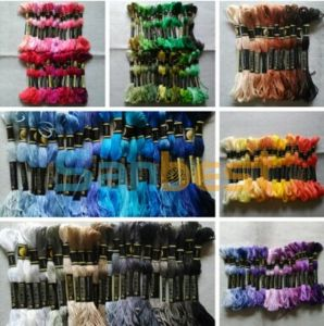 100% Cotton Cross-Stitching Embroidery Thread 8m/Skein pictures & photos