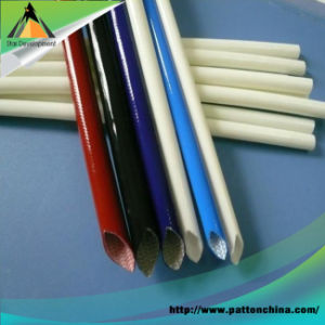 RoHS Soft Silicone Rubber Fiberglass Sleeving pictures & photos