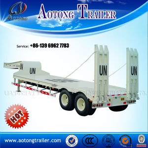 2/3 Axles Lowboy Trailer for Heavy Machine Transportation pictures & photos