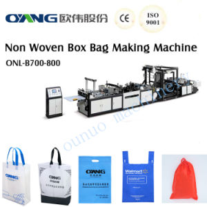 Ce Certificate Automatic Non Woven Bag Making Machine--Onl-B700/800 pictures & photos