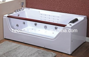 White Acrylic Sanitary Whirlpool Massage Bathtub (OL-675) pictures & photos
