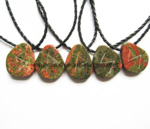 Semi Precious Stone Fashion Natural Crystal Unakite Necklace pictures & photos