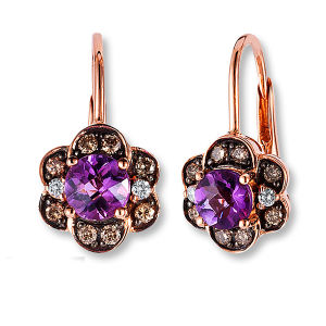 Hot Sales Hoop Earrings 925 Silver Jewelry with Amethyst pictures & photos