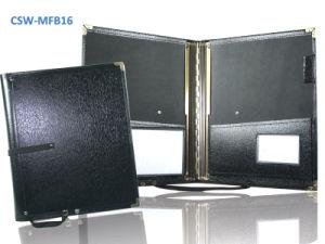 Choir Music Folder; Black A4; Handstrap; 2 Pockets Elastic Strings