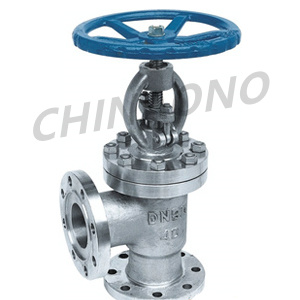 Cast Steel Angle Type Globe Valve pictures & photos