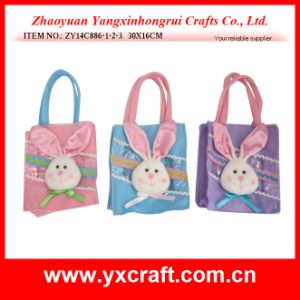 Easter Decoration (ZY14C886-1-2-3 30X16CM) Easter Decoration Ornament Handicraft Rabbit pictures & photos