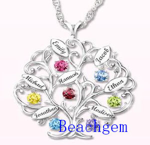 New Jewellery-Color Gemstone Sterling Silver Tree Pendant (P908913) pictures & photos