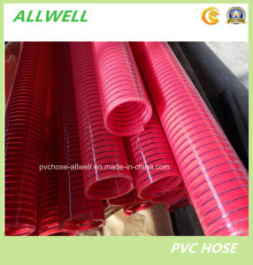 PVC Flexible Spiral Reinforced Discharge Water Suction Pipe Hose pictures & photos