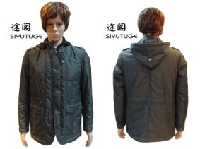 Men Fashion Dismountable Hoody Padding Winter Parka Jacket (SY-1551) pictures & photos