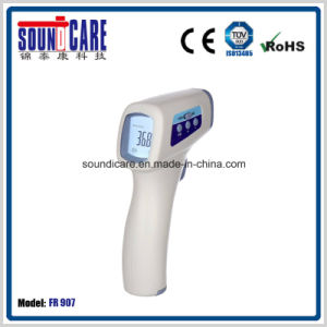 Non-Contact Electronic Forehead Gun Type 1s Fast Reading Infrared Thermometer (FR 907) pictures & photos