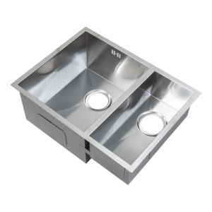 Handmade Double Sink, Stainless Steel Kitchen Sink (D58X40X23) pictures & photos