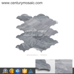 Century Mosaic Milano Gray Water Jet Cloud Seamless Mosaic Tile