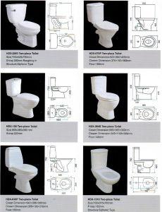 Ceramic Toilet, Two-Piece Ceramic Toilet, New Design