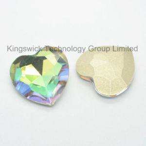 Heart Crystal Stone with Metal Base Setting pictures & photos