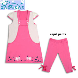Zaxwear Beautiful Girls Dress Sets with Matching Pants pictures & photos