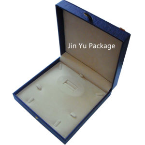 Fake Leather Wooden Jewelry Gift Packing Box with Custom Emboss Logo pictures & photos