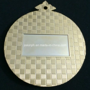 Customized Golden Metal Medals with Back Text pictures & photos