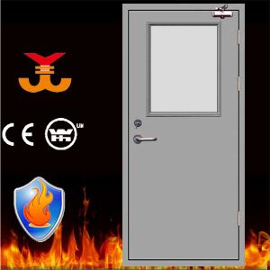 Fire Resistant Metal Door with Glass pictures & photos