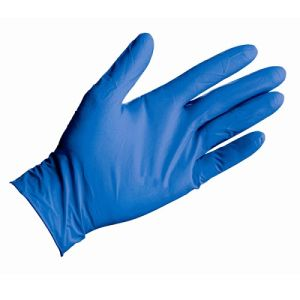 Natural Disposable Blue Nitrile Glove for Powder Free pictures & photos
