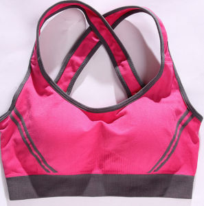 Hot Sale Plain Running Custom Push up Compression Gym Lady′s Yoga Bra pictures & photos