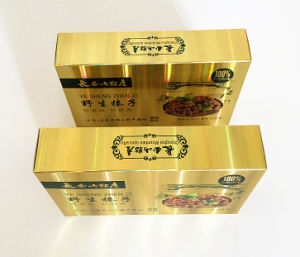 Golden Foil Paper Boxes for Nutriments pictures & photos
