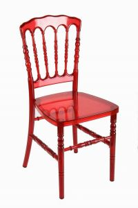 Polycarbonate Red Dining Rental Restaurant Banquet Napoleon Chair pictures & photos