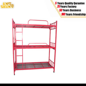 Metal Army Dormitory 3 Level Bunk Bed pictures & photos