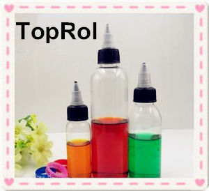 30ml 60ml 100ml 120ml Clear Plastic Bottle with Twist Top