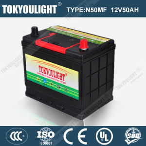 JIS Standard Maintenance Free Automotive Battery with N50mf 12V50ah for Japanese Car