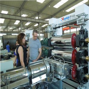 Three Calender Plastic Sheet / Board Extrusion Line (HSD) pictures & photos