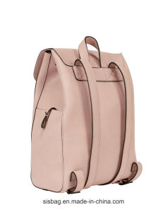 Cow Leather PU Backpack Pink Color Campus Backpack pictures & photos
