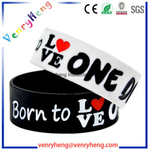 Embossed/Debossed Silicon Rubber Wrist Band for Promotional Gifts pictures & photos